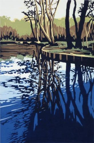 Trow Pool Reflection by Alexandra Buckle