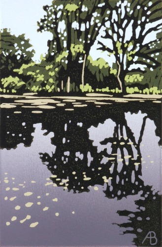 Trees Cast Reflection by Alexandra Buckle