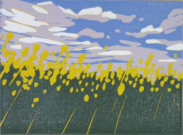 Mini Yellow Field by Alexandra Buckle