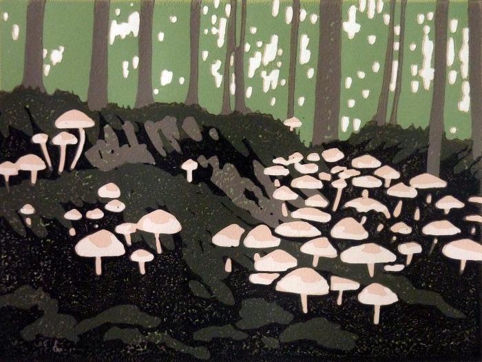 Mini Mushrooms by Alexandra Buckle