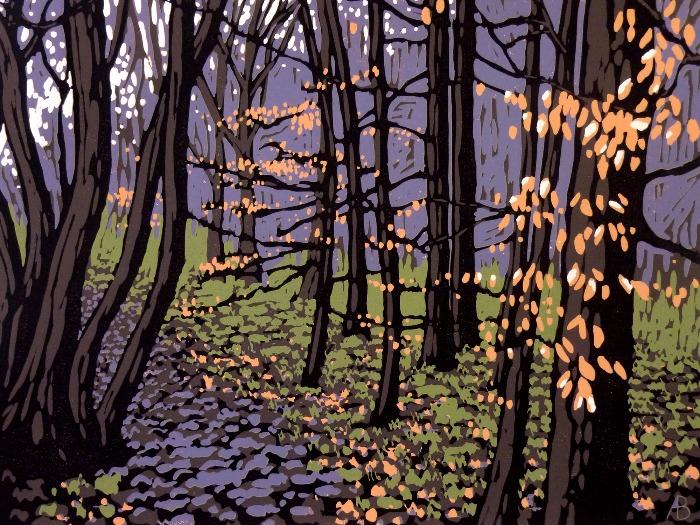 Beech Leaves in Winter by Alexandra Buckle