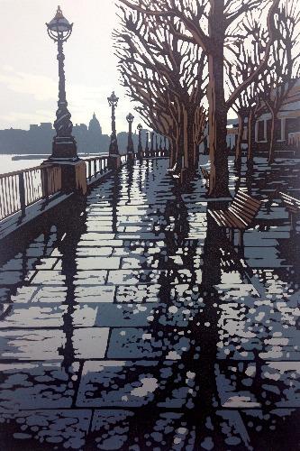 Rainy Southbank by Alexandra Buckle