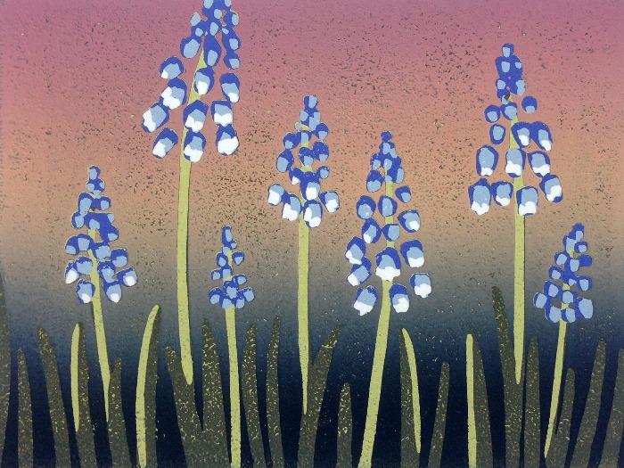 A Crush of Grape Hyacinths by Alexandra Buckle