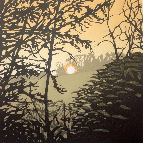 Setting Sun and Mist, Waddesdon by Alexandra Buckle