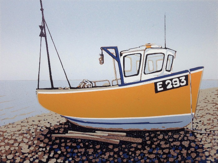 Branscombe Boat, Overcast by Alexandra Buckle