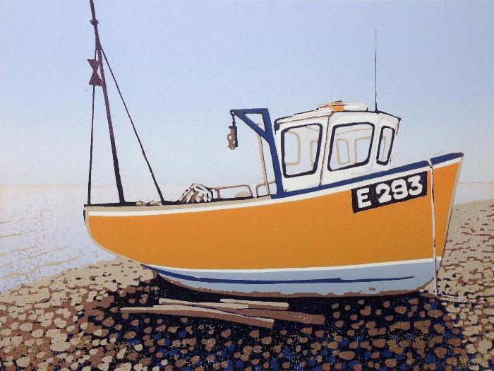 Branscombe Boat, Sunny by Alexandra Buckle