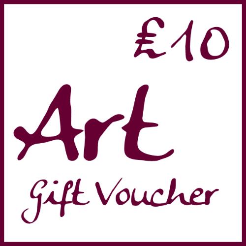 �10 Art Gift Voucher by Alexandra Buckle
