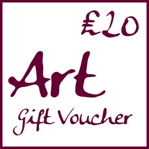 �20 Art Gift Voucher by Alexandra Buckle