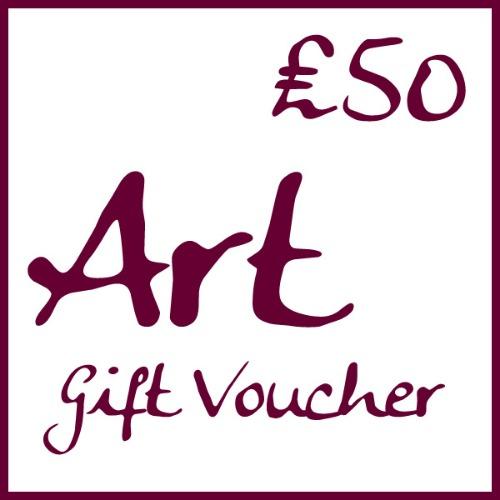 �50 Art Gift Voucher by Alexandra Buckle